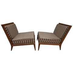 Pair of Robsjohn-Gibbings Style Slipper Lounge Chairs, Mid-Century Modern