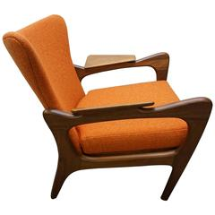 Gorgeous Adrian Pearsall Sculptural Walnut Lounge Chair