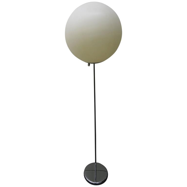 Fun Large Panton Style Ball Globe Floor Lamp With Chrome Base For