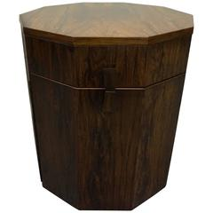 Rosewood Decagon Dry Bar Cabinet by Harvey Probber