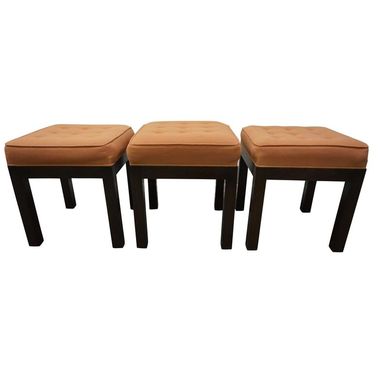 Stylish Set of Three Harvey Probber Stool Bench,Mid-Century Modern