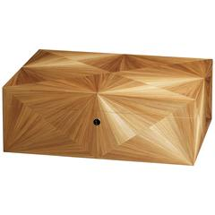 Jewelry Box in Straw Marquetry  by Frederic DAD