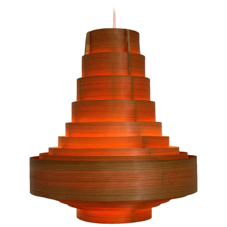 hans agne jakobsson wood pendant sweden 1960s at 1stdibs. Black Bedroom Furniture Sets. Home Design Ideas