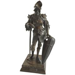 20th Century Bronze Figure of Gothic King Theodoric after the Artist Peter Visch