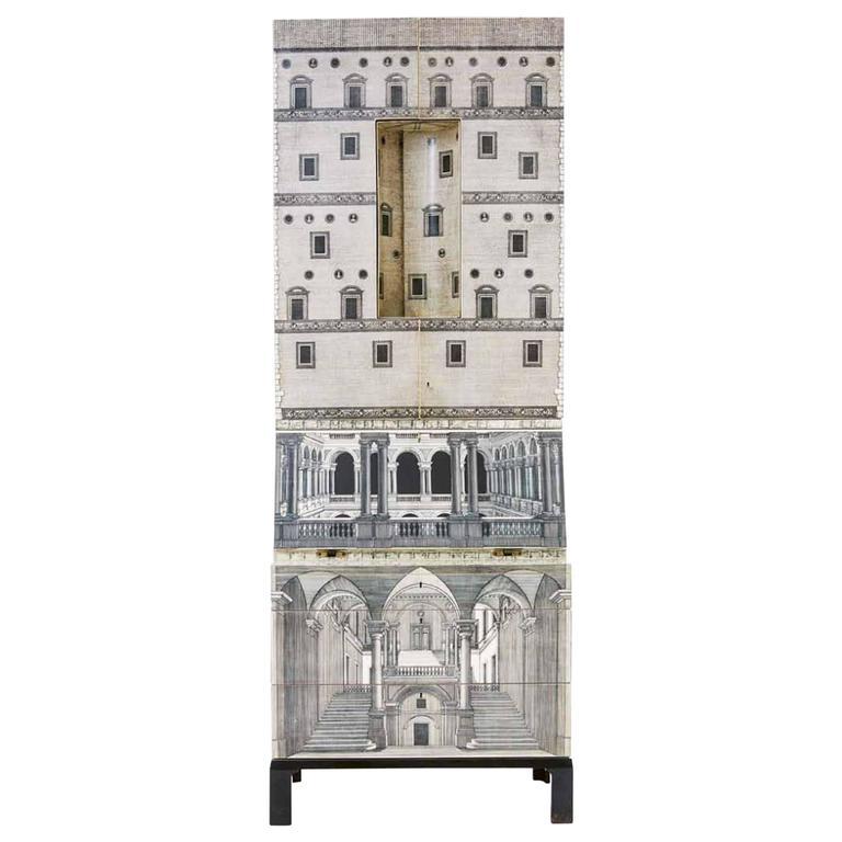 """Architettura"" Cabinet by Piero Fornasetti, Italy, 1960s 1"