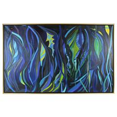 Vivid Sea Oversized  Abstract Painting