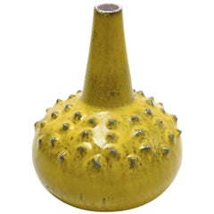 Rare Perignem Yellow Glazed Large Vase Designed by Rogier Vandeweghe