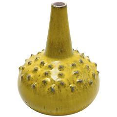 Rare Perignem Yellow Glazed Large Vase Designed by Rogier Vandeweghe