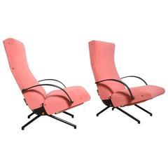 Set Osvaldo Borsani, P40 Lounge Chairs for Tecno