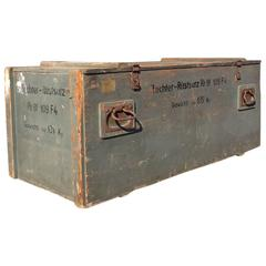 Messhachmit German Machine Gun Crate Trunk WW2 Shabby Chic