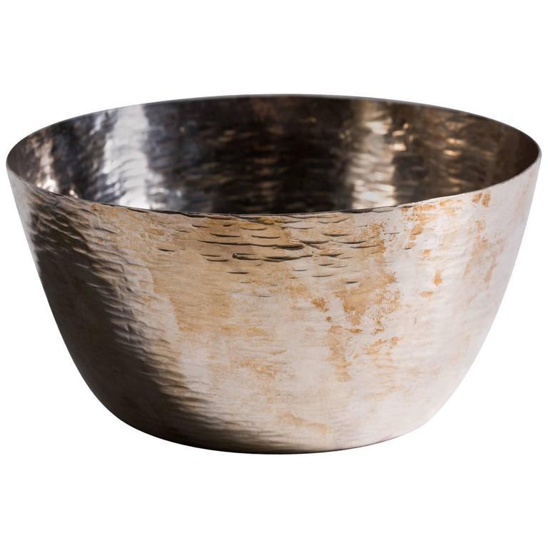Tapio Wirkkala Hand-Hammered Bowl, Sterling Silver, 1973