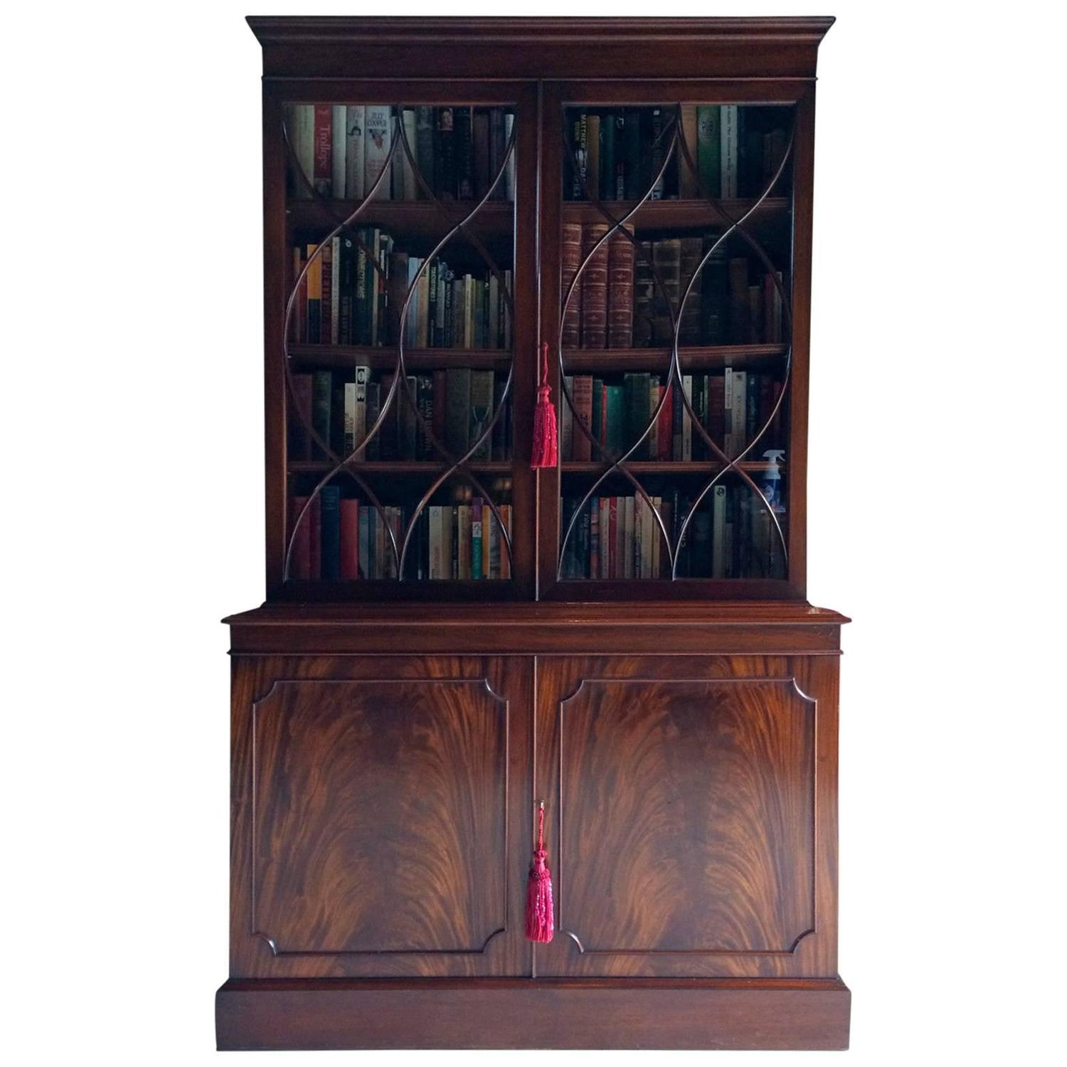 #A22955 Antique Style Bookcase Mahogany Display Cabinet Two Door  with 1500x1500 px of Recommended Mahogany Display Cabinets With Glass Doors 15001500 save image @ avoidforclosure.info