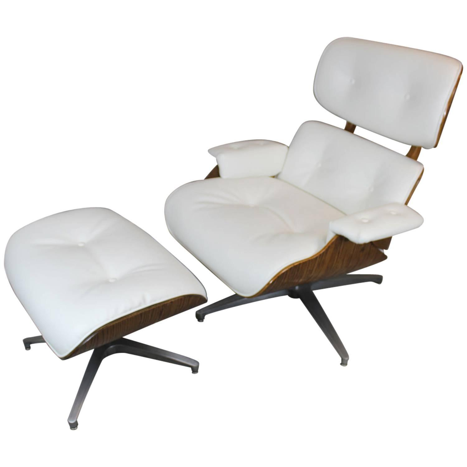 eames style lounge chair and ottoman at 1stdibs. Black Bedroom Furniture Sets. Home Design Ideas