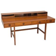 Danish Walnut Flip Top Desk, Jens Quistgaard for Peter Løvig Nielsen