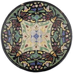Rare Malibu Pottery Charger with Moorish Motif