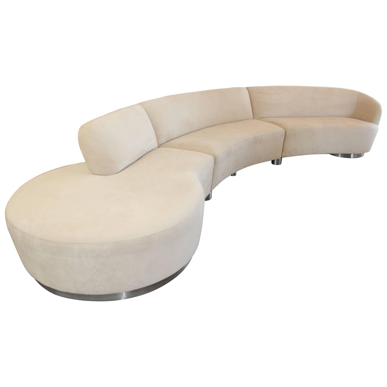 Vladimir Kagan Serpentine Sectional Sofa at 1stdibs