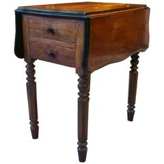 Antique Victorian Pembroke Table Solid Mahogany 19th Century Side Table