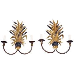 Pair of Sconces by Maison Charles, France, 1960s