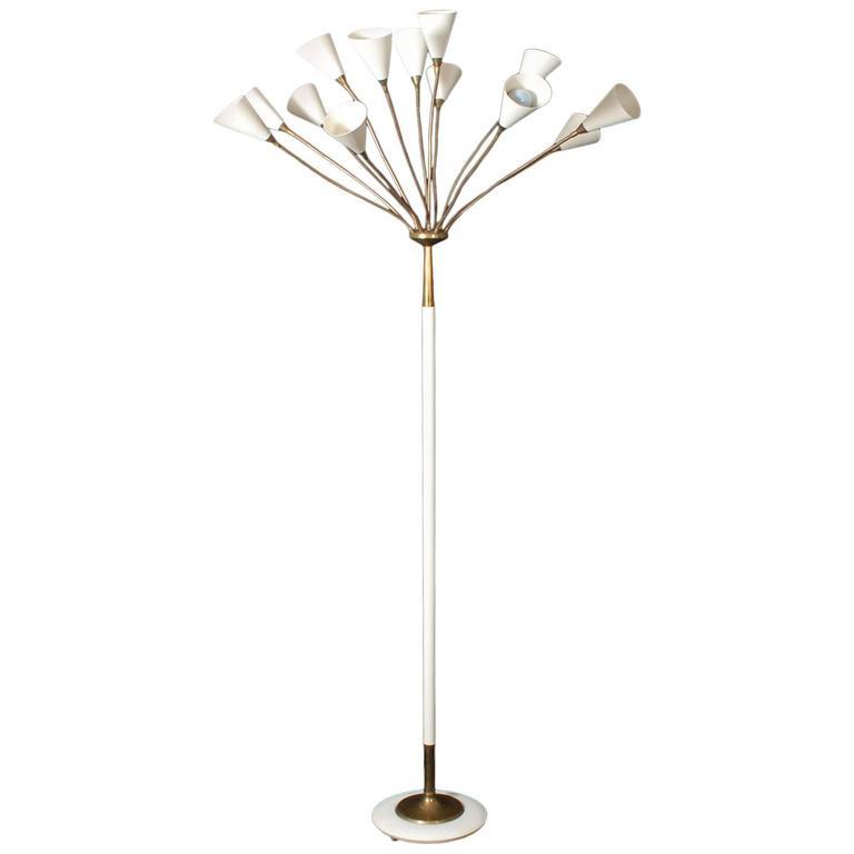 Rare Gino Sarfatti Model No. 1035 Floor Lamp, 1948 For Sale