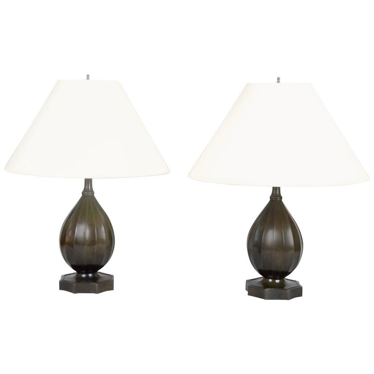 Pair of Table Lamps by Just Andersen, Denmark, circa 1930