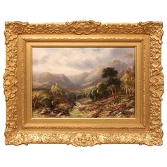 """A View in North Wales"" Oil Painting by Robert John Hammond"