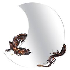 Dragon Mirror Attributed to Perret and Vibert, Maison Des Bambous