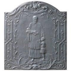 19th Century French Fireback Saint Vincent De Paul