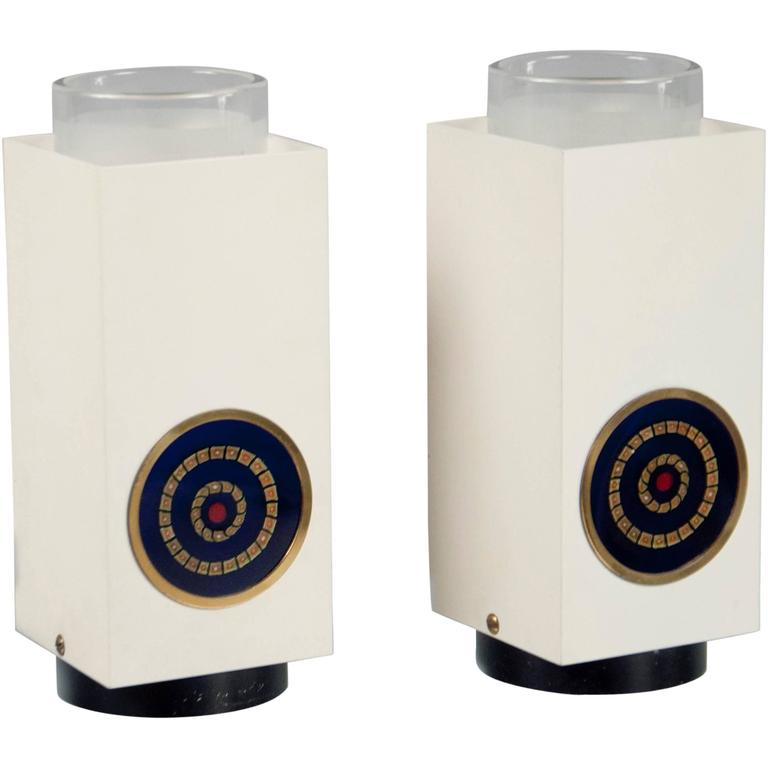 Pair of Table Lamps by Angelo Lelii Arredoluce, Italy, 1968