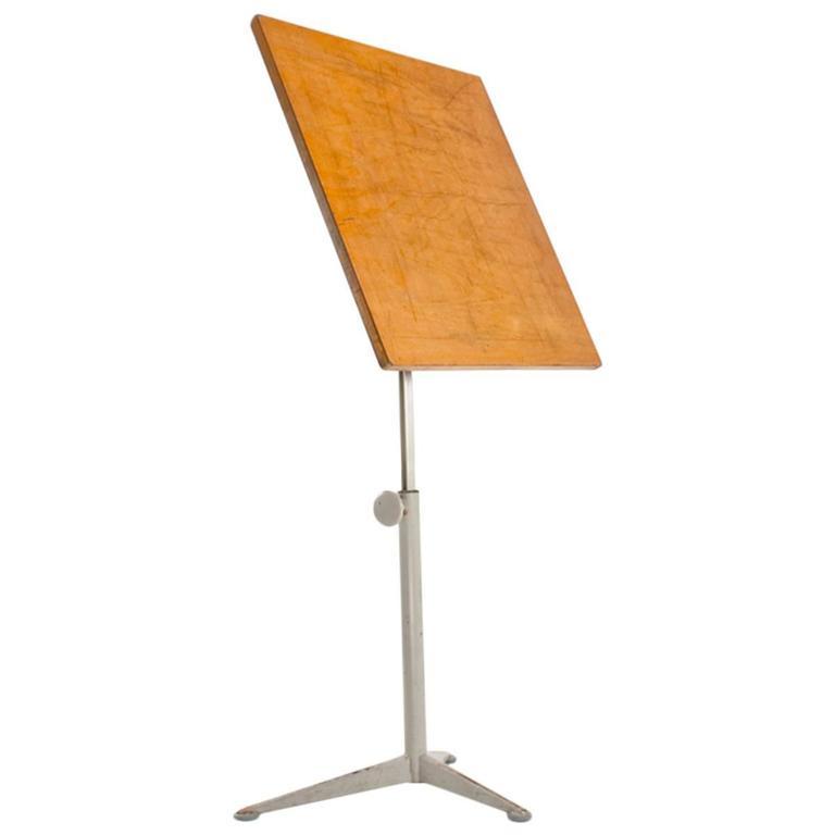 "1964 Rare Friso Kramer Coffee Table For Ahrend De Cirkel: Friso Kramer ""Reiger"" Drafting Table By Ahrend De Cirkel"