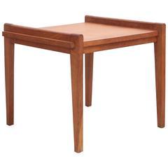 Rare Rene Gabriel Side Table in Solid Oak