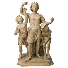 Terracotta Sculpture Group of Apollo, Diana and Mercury, Dresden, 1750s