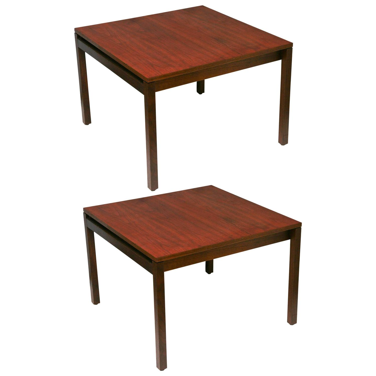 ... Mid Century Danish Modern Knoll Lewis Butler Walnut Square Side