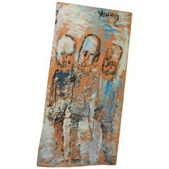 Lg. Well Listed and Documented Outsider Folk Artist Purvis Young Caballeros