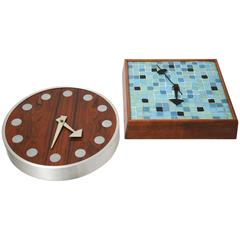 Two Mid-Century Modern Howard Miller George Nelson Clocks