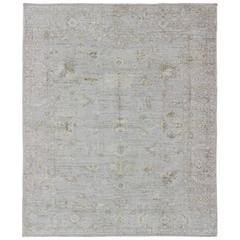 Turkish Angora  Oushak Contemporary Rug