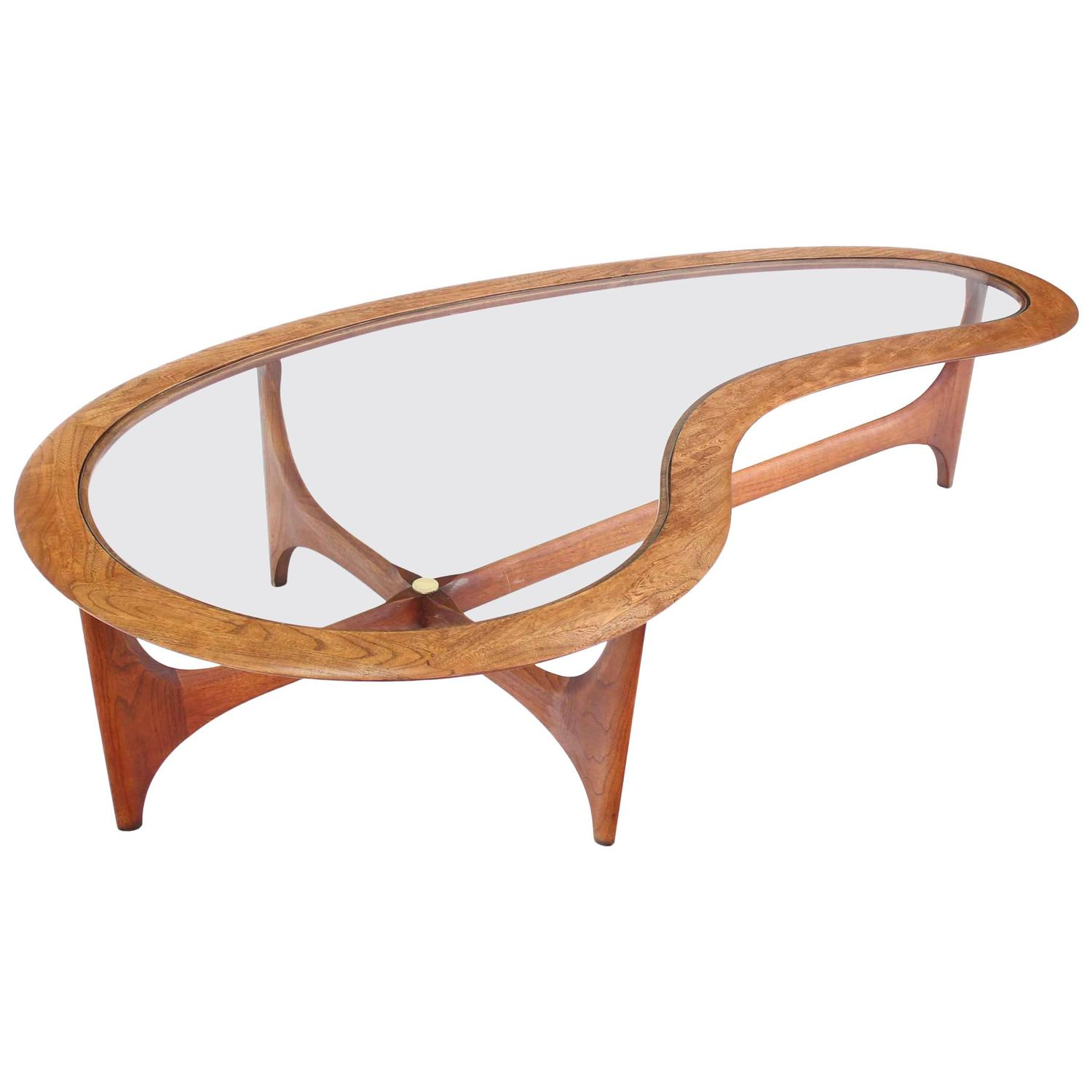 Danish Mid Century Modern Biomorphic Coffee Table For Sale At 1stdibs