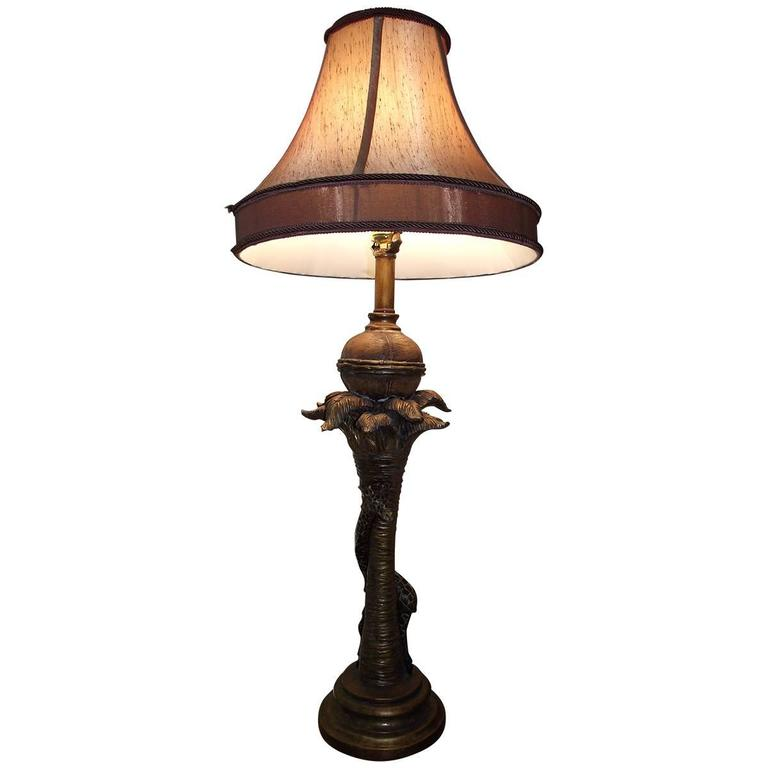 Giraffe Table Or Buffet Lamp Unusual Lamp In Brown And