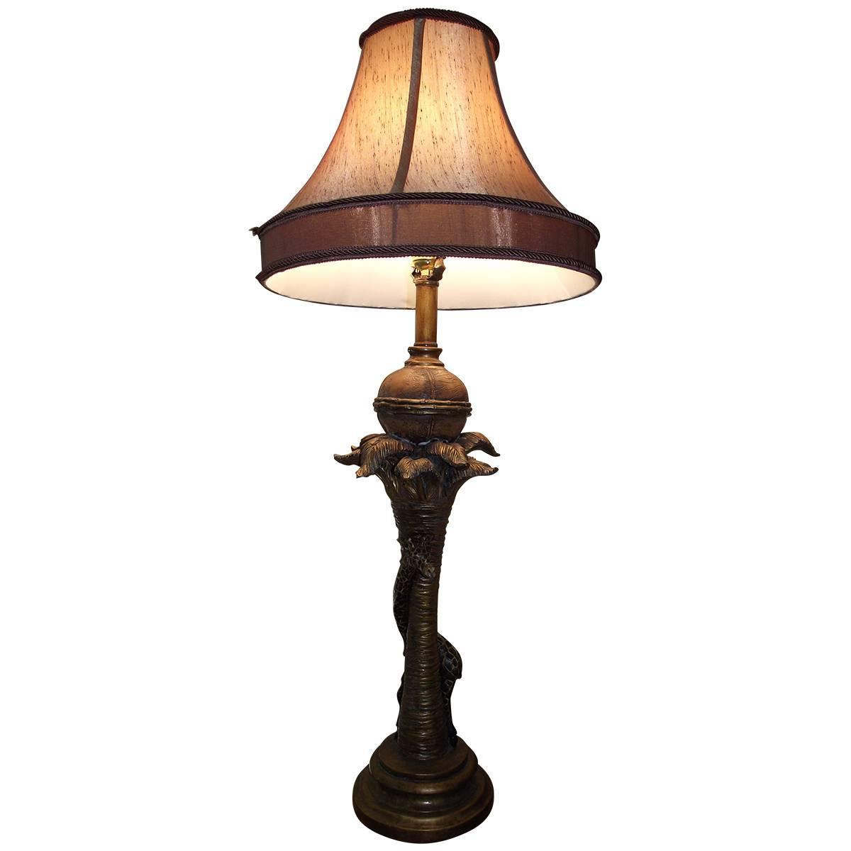 giraffe table or buffet lamp unusual lamp in brown and gold finish at