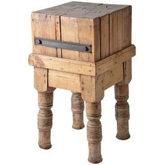 Late 19th Century French Butcher Block
