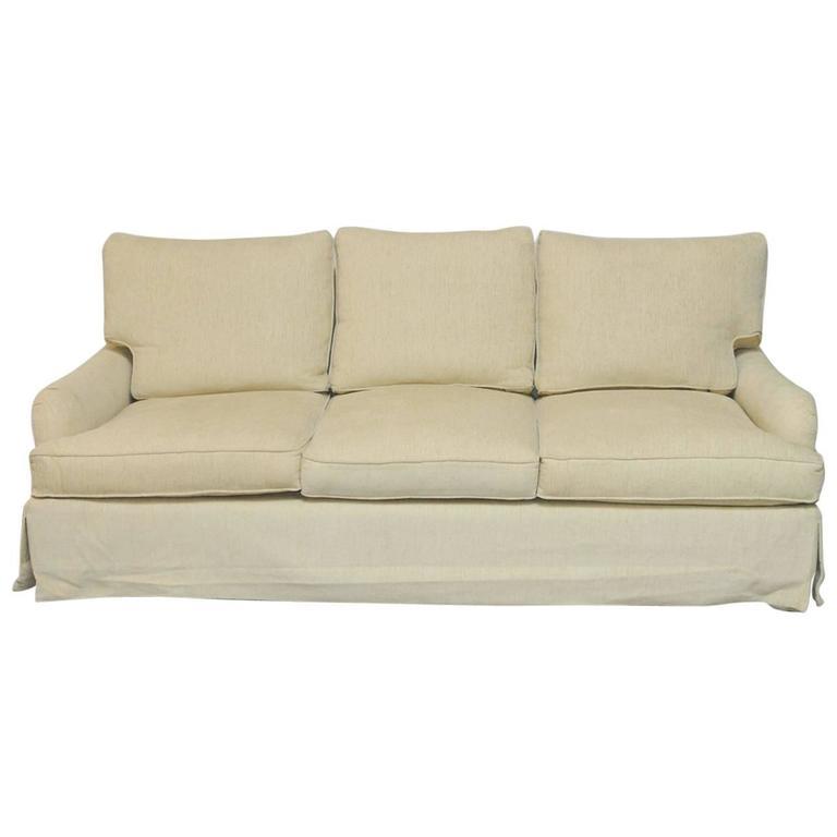 English Arm Chenille Sofa At 1stdibs
