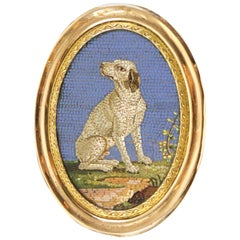 Italian Gold-Mounted Micromosaic Snuff Box