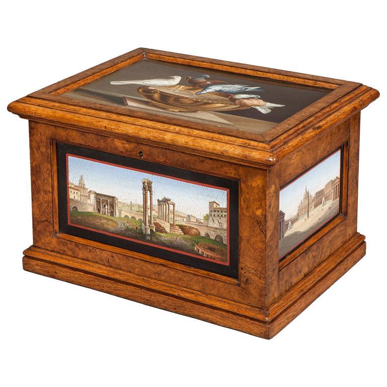 19th Century Micromosaic 'Grand Tour' Decorative Box of Architecture Scenes