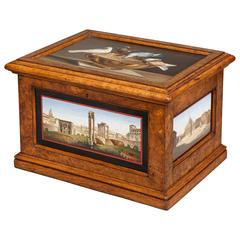 19th Century Micromosaic 'Grand Tour' Decorative Box of Architecture Scenes