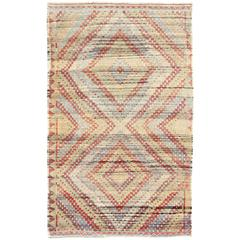 Vintage Turkish Embroidered Kilim