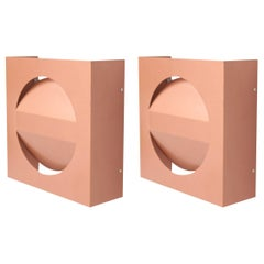 Pair of Architectural RAAK Wall Lamps in Copper Lacquer NOS