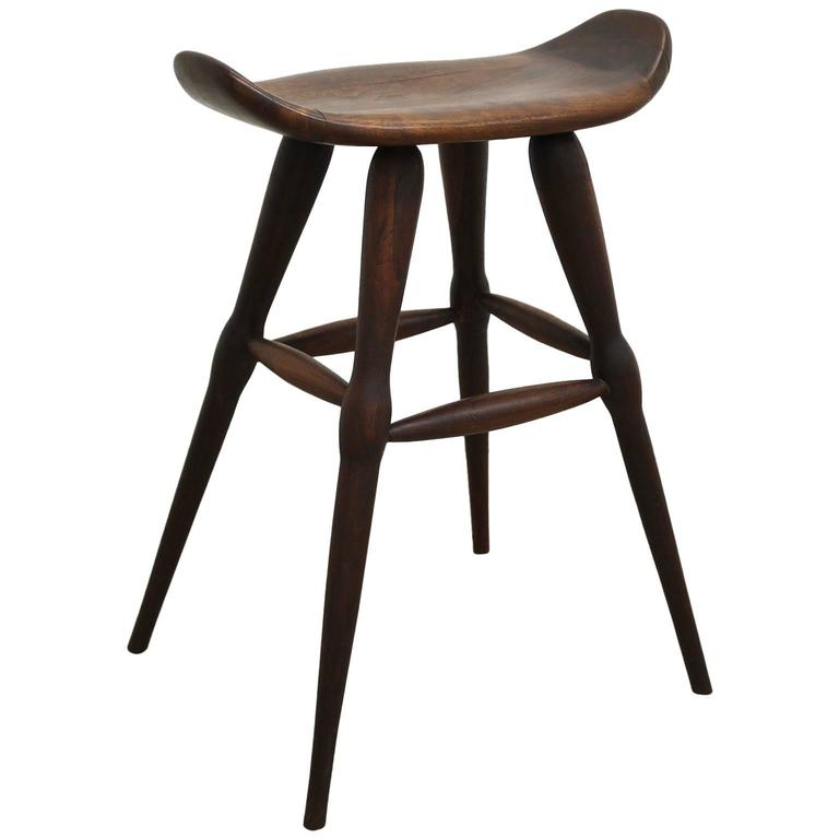 Handcrafted 1940s Modernist Stool At 1stdibs