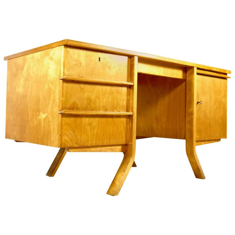 Cees Braakman EB04 Birch Desk for Pastoe, circa 1950