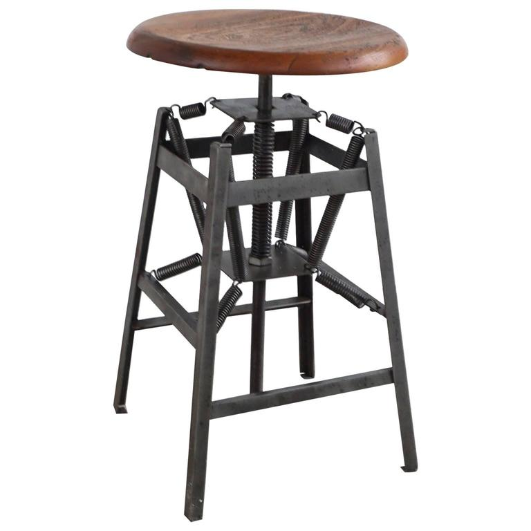 American Industrial Stool For Sale