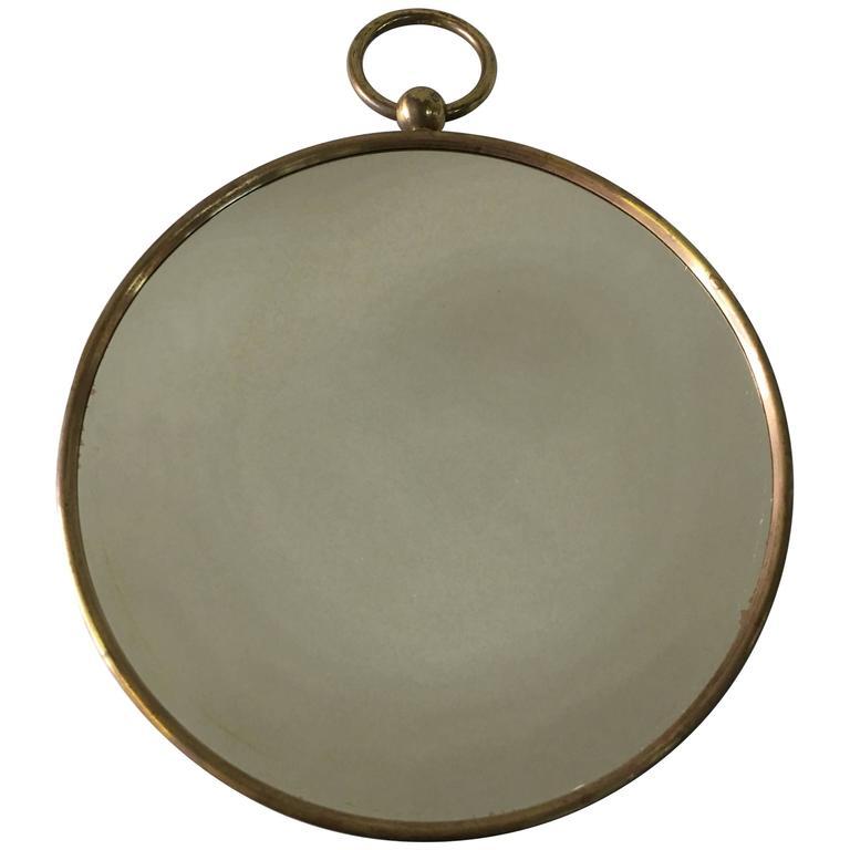 Vintage Piero Fornasetti Brass Convex Mirror