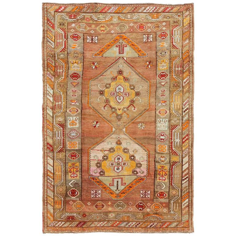 Turkish Rug Austin: Beautiful Turkish Oushak Rug With Geometric Design For